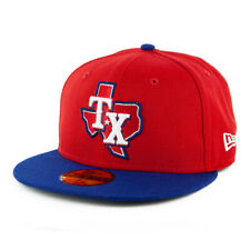 New Era 59Fifty Texas Rangers ALT 3 Fitted Hat (Red/Royal Blue) Men's MLB Cap