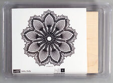 Stampin Up Hello Doily Background Rubber Stamp Set of 1 Wood, Unmounted in Case