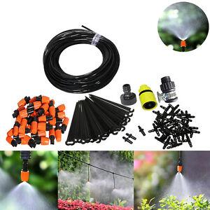 25m DIY Micro Drip Irrigation System Garden Plant Spray Watering Hose Kits