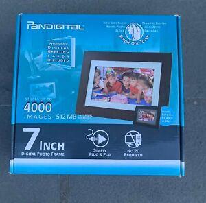 "Pandigital 7"" LCD Digital Picture Photo Frame Black PI7056AW New"