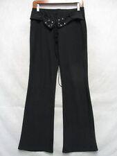 D1101 Vanity Negro Poliéster con / Cordones Cinturón Del Alto Grado Pantalones