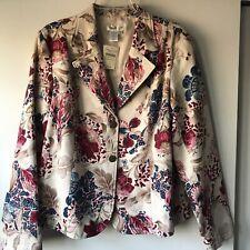 NWT Coldwater Creek Jacobean Floral  Blazer Jacket Women's L