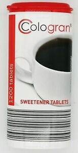 Cologran 1200 Calorie Free Sweeteners Tablets 72g x 1 Pack of 1200