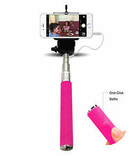 Monopod Selfie Stick Telescopic Wired Remote Mobile holder For Samsung Galaxy S5