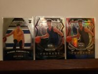 2020-21 Panini Prizm Deni Avdija RC Lot- Crusade Red White & Blue + Base