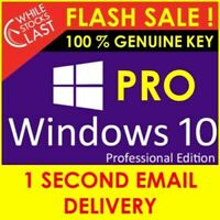 🔥WINDOWS 10 Pro 32/64 BIT 🔑GENUINE KEY🔑ORIGINAL LICENCE 🚀INSTANT DELIVERY