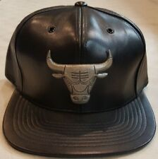 100% authentic aae69 184df Chicago Bulls NBA Mitchell   Ness Perforated Lambskin Leather Hat Cap  SnapBack