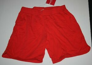 New Hanna Andersson Boys Girls Red Shorts 160 14 year Bright Basics Pull On Knit