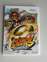 Mario Strikers Charged Game in Case! Nintendo Wii