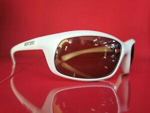 Occhiale BERTONI bianco perla lente ambra specchiata FT138C