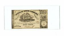 1863 THE STATE OF NORTH CAROLINA 50 CENTS - CONFEDERATE NOTE - MINT