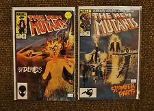 Lot of 2 New Mutants #20 & #21 (1984 Marvel 1st Series) VF/NM Sienkiewicz art