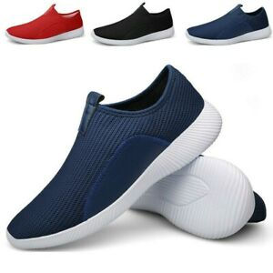 Men Lightweight Slip On Shoes Walking Running Athletic Sneaker Loafers YHU87