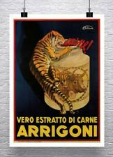 Italian Tiger 1930 Vintage Food Advertising Poster Canvas Giclee Print 24x32 in.