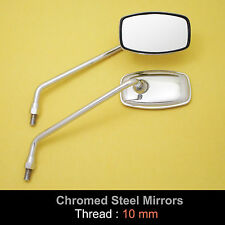 Kawasaki Eliminator 125 250 600 Voyager1300 10mm Chrome Steel Rectangle Mirror