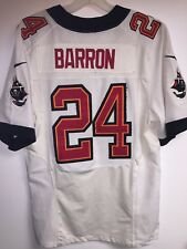 NFL TAMPA BAY BUCCANEERS #24 MIKE BARRON WHITE SEWN NIKE JERSEY Men's 40
