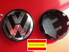 TAPA PARA LLANTA DE VW DE 65 mm EMBLEMA LOGO VOLKSWAGEN PLATEADO golf polo...