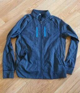 Lululemon Men's Shift Jacket Heathered Black / Cornflower Size XL Stretch