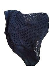 Medium Black Seamed Lace Top Fine Fishnet Stockings Suspender Friendly Top