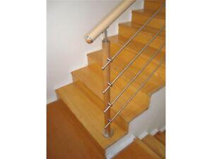 Treppengeländer - Buche - Bodenmontage 300 cm lang - steigend B