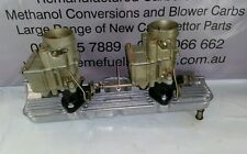 RECO TWIN STROMBERG CARB + NEW INTAKEMANIFOLD GOLD FINISH SUIT HOLDEN 6 ENGINE