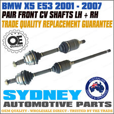 PAIR BMW X5 E53 2001 - 2007 CV Shafts Complete Joint Axle Assembly LEFT & RIGHT
