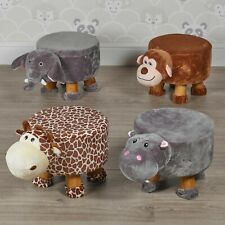 Animal Footstools Shape Ottomans Padded Cushion Rest Seat Footrest Pouffe Stools