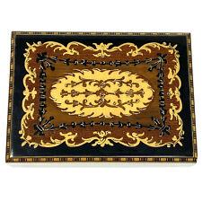 Vtg Italian Hand-Crafted Inlaid Wood Jewelry Music Box SORRENTO