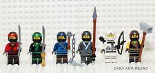 LEGO NINJAGO MOVIE  KAI / COLE / ZANE / JAY / NYA / LLOYD WEAPONS LOT OF 6 NEW
