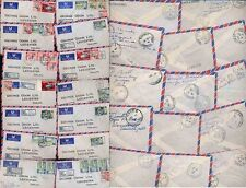 JAMAICA 1963-64 REGISTERED AIRMAILS 14 COVERS ALL DIFFERENT ETIQUETTES 30 stamps