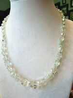 """Vintage 17"""" AB Crystal Glass Bead Necklace"""