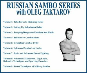 RUSSIAN SAMBO Training Series (9) DVD Set takedowns submission grappling holds