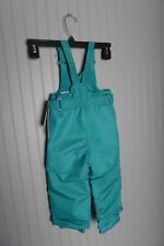 New CAT & JACK Toddler Heavyweight Snow Bibs Turquoise Blue 12M Pants ski