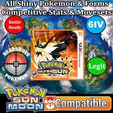 Legit Unlocked Pokemon Ultra Sun   All 802 Shiny Pokemon & All Items!