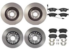 Front Rear Full Brembo Brake Kit Disc Rotors Low-Met Pads For A8 Quattro '05-'10