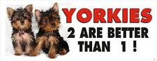 CUTE YORKIE DOG PET BUMPER STICKER #3006