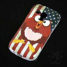 Samsung Galaxy S Duos S7562 Silikon Case Schutz Hülle Bumper USA Flagge Eule Owl