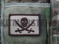 Calico Jack Pirate Skull & Crossed Cutlass Lrge Coyote VCRO Patch SEAL Team 6