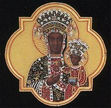 """A Catholic Vestment Applique Virgin Mary of Czestochowa 9"""" x 9"""" Inches  NEW"""