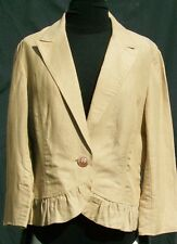 NWT Bandolino Blazer/Jacket Linen 12 Ruffle Hem Bombay Drea