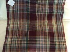 Pottery Barn Kingston Plaid Pillow Cover 24x24 NWT Cabin Lodge Linen Cotton Warm