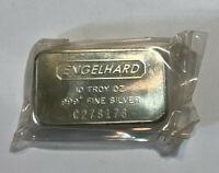 Engelhard 10 oz .999+ Fine Silver Bar Sealed, C Serial Numbers