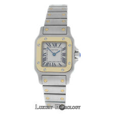 Mint Women's Cartier Santos Galbee 1567 Quartz Steel & 18K Gold Steel 24mm Watch