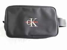 Vintage CK Calvin Klein Toiletry Shaving Kit Pouch Travel Cosmetic Bag