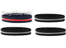 4 wristbands - 1 thin red line and 3 thin silver gray line wristbands