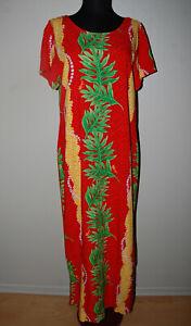 VINTAGE MAMO HOWELL RAYON HAWAIIAN DRESS - SIZE LARGE