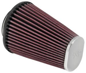 """RC-3680 K&N Universal Chrome Air Filter 2-7/16""""FLG; 4-1/2 X 3-3/4B, 3"""" X 2""""T, 6"""""""