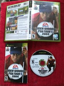 Tiger Woods PGA Tour 2004 (Microsoft Xbox, 2003) Complete Tested