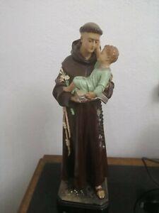 Statua Sant'Antonio in gesso alta 40 cm