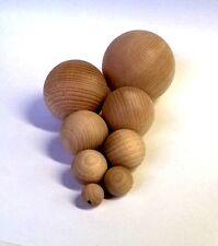 Holzkugel, Kugel, massiv Buche, gedrechselt, ungebohrt, 50 mm Durchmesser